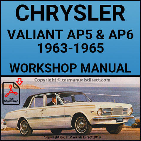 CHRYSLER 1963-1966 Valiant AP5 & AP6 Series Workshop Manual | carmanualdirect