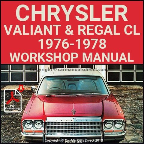 CHRYSLER 1976-78 Valiant and Regal CL Series Workshop Manual | carmanualsdirect