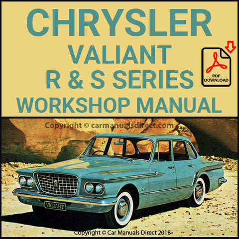 CHRYSLER 1962-63 Valiant R & S Series Shop & Spare Parts Manual | carmanualsdirect