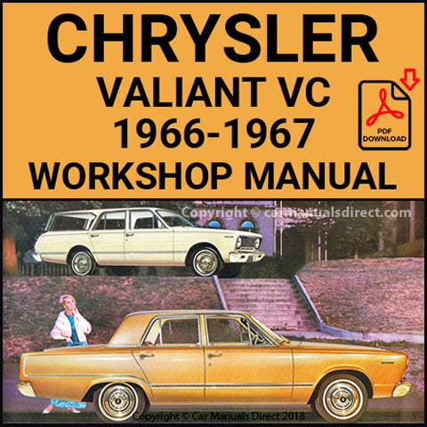 CHRYSLER 1966-1967 Valiant VC Series Workshop & Spare Parts Manual | carmanualsdirect