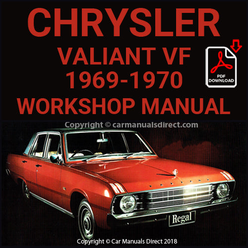 CHRYSLER 1969-1970 Valiant VF and Regal VF Series Workshop Manual | carmanualsdirect