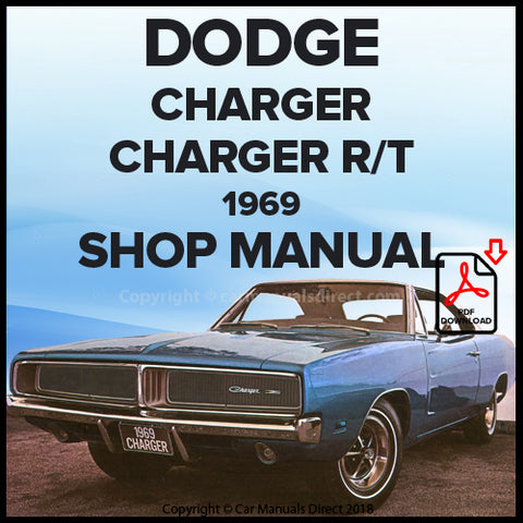 DODGE 1969 Charger and Charger R/T Shop Manual | carmanualsdirect