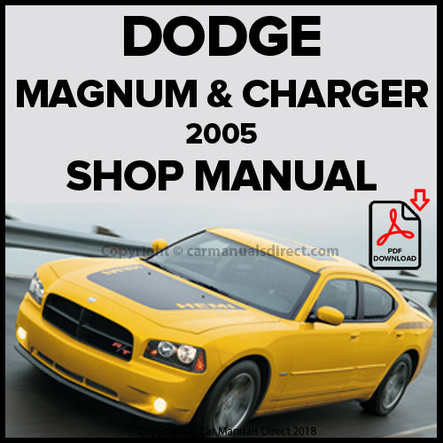 DODGE 2005 Charger & Magnum Shop Manual | carmanualsdirect