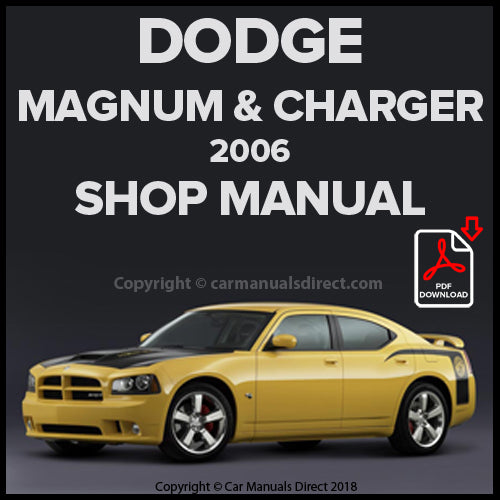 DODGE 2006 Charger & Magnum Shop Manual | carmanualsdirect