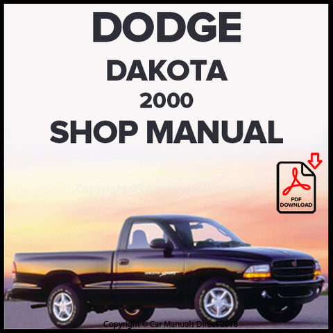 DODGE 2000 Dakota Pick Up Shop Manual | carmanualsdirect