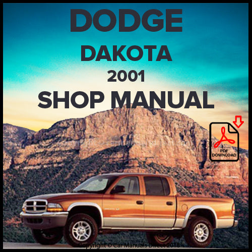 DODGE 2001 Dakota, Sport, SLT Shop Manual | carmanualsdirect