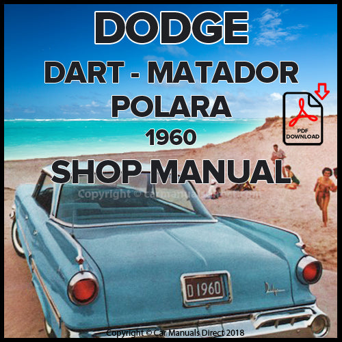 DODGE 1960 Dart, Matador and Polar Shop Manual | carmanualsdirect