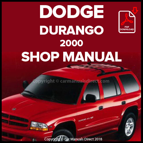 DODGE 2000 Durango Shop Manual | carmanualsdirect