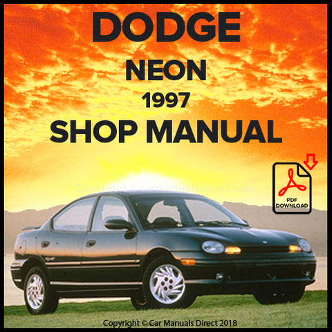 DODGE 1997 Neon and Neon Sports Shop Manual | carmanualsdirect