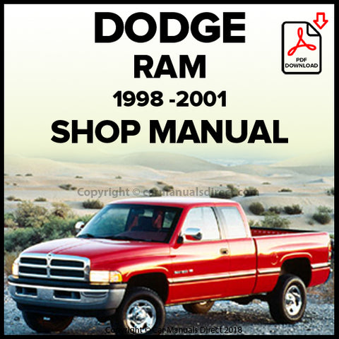 DODGE 1998-2001 Ram Pick Up Shop Manual | carmanualsdirect