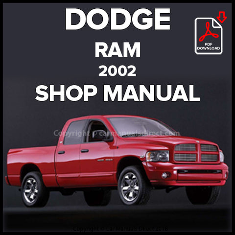 DODGE 2002 Ram 1500 Shop Manual | carmanualsdirect