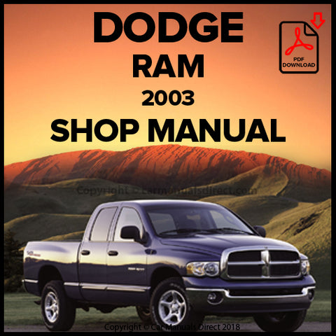 DODGE 2003 Ram Pick Up Shop Manual | carmanualsdirect