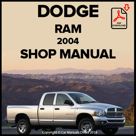 DODGE 2004 Ram Pick Up Shop Manual | carmanualsdirect