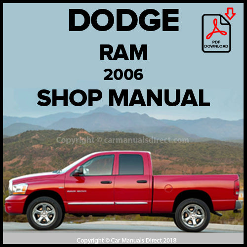 DODGE 2006 Ram 1500, 2500 Pick up Shop Manual | carmanualsdirect