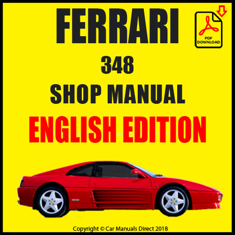 FERRARI 348 1989-1994 Shop Manual | carmanualsdirect