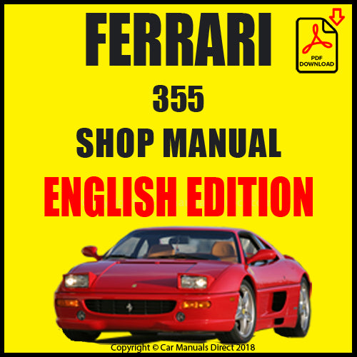 FERRARI 355 1994-1999 Shop Manual | carmanualsdirect