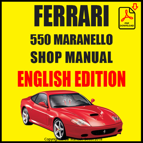 FERRARI 550 Maranello 1996-2001 Shop Manual | carmanualsdirect