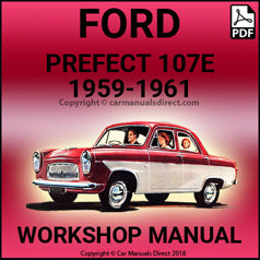 FORD Prefect 107E, 1959-1961 Workshop Manual: