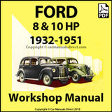 FORD 8 and 10 HP Models C, Y, Anglia, Prefect, 1932-1951 Workshop Manual