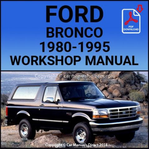 FORD Bronco 1980-1995 Shop Manual | carmanualsdirect