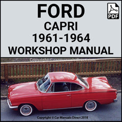 FORD Capri, 1961-1964 Workshop Manual