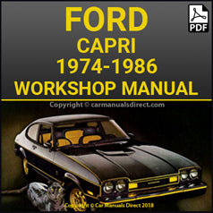 FORD Capri, 1300, 1600, 2000, 2300, 2800, 3000, 1974-1986 Workshop Manual
