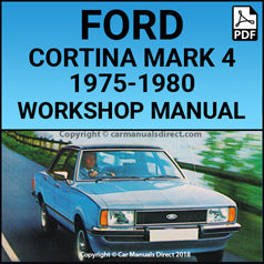 FORD 1975-1980 Cortina L, GL and Ghia Mark 4 Workshop Manual | carmanualsdirect