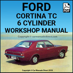 FORD Cortina TC 6 Cylinder 1971-1973 Workshop Manual (Australian Version)