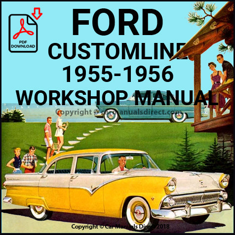 FORD Customline 1955-1956 Shop Manual