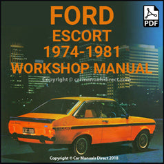 FORD Escort Mark 2 1974-1981 Workshop Manual