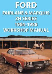 FORD Fairlane and Marquis ZH Series 1976-1979 Workshop Manual