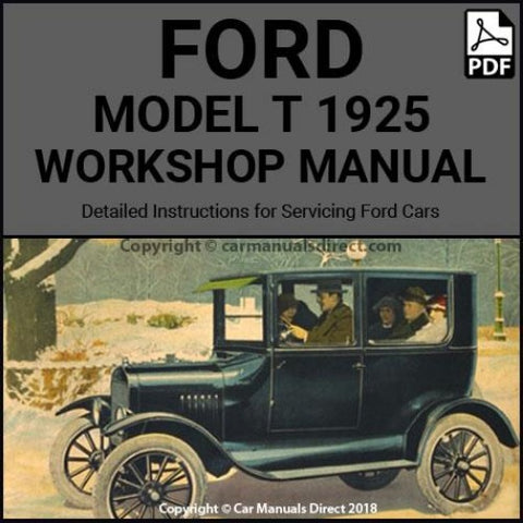 FORD Model T 1925 Shop Manual | carmanualsdirect