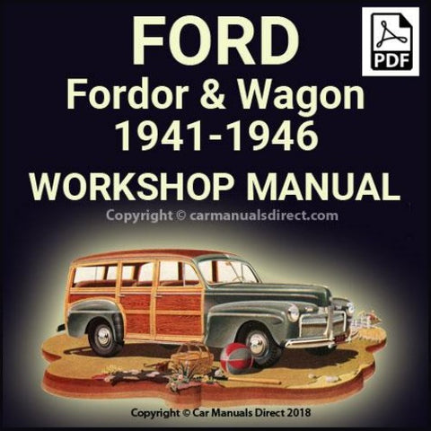 FORD 1941-1946 Fordor Sedan & Station Wagon V8 Shop Manual | carmanualsdirect