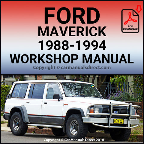 FORD Maverick 1988-1994 Workshop Manual | carmanualsdirect