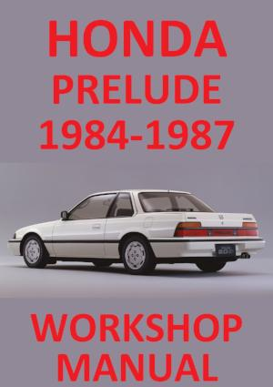 HONDA Prelude 1984-1987 Workshop Manual