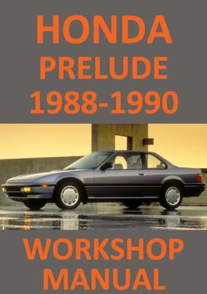 HONDA Prelude 1988-1990 Workshop Manual