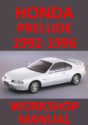 HONDA Prelude 1992-1996 Workshop Manual