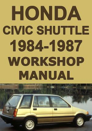 HONDA Civic Shuttle 1984-1987 Workshop Manual | carmanualsdirect