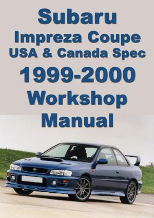 SUBARU Impreza Coupe 1999-2000 Workshop Manual