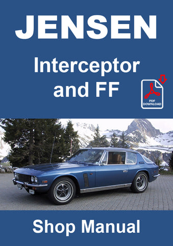 JENSEN Interceptor Series 2 and Series 3 Shop Manual | carmanualsdirect