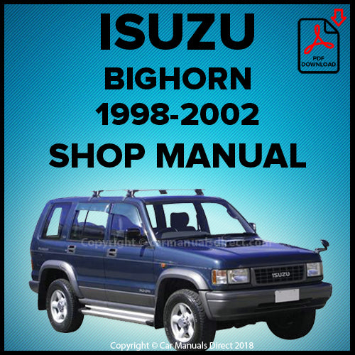 ISUZU Trooper | Bighorn 1998-2002 Shop Manual | carmanualsdirect