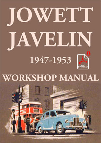 JOWETT Javelin 1947-1953 Workshop Manual | carmanualsdirect