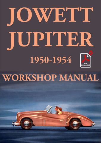 JOWETT Jupiter 1950-1954 Workshop Manual | carmanualsdirect