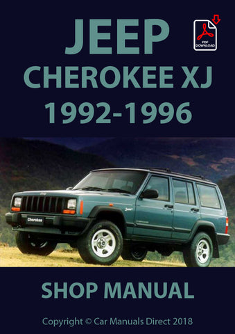 JEEP Cherokee XJ 1992-1996 Shop Manual | carmanualsdirect