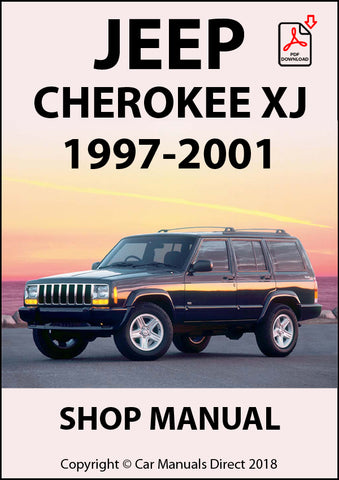 JEEP Cherokee XJ Series 1997-2001 Shop Manual| carmanualsdirect