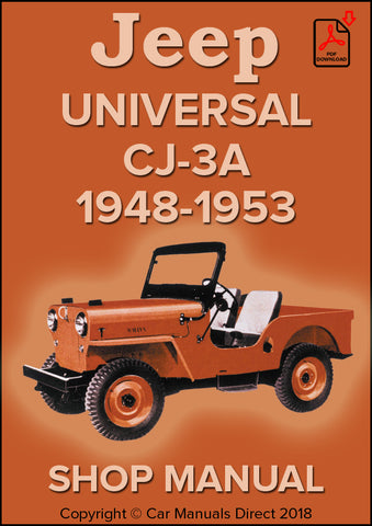 Jeep Universal CJ-3A 1948-1953 Shop Manual Shop Manual | carmanualsdirect
