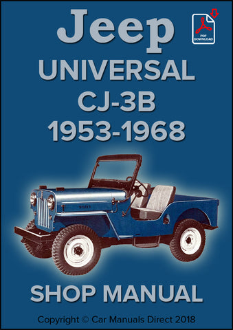 Jeep Universal CJ-3B 1953-1968 Shop Manual | carmanualsdirect