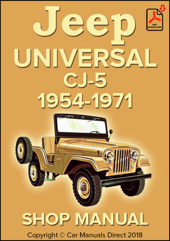 Jeep Universal CJ-5 1954-1971 Shop Manual | carmanualsdirect