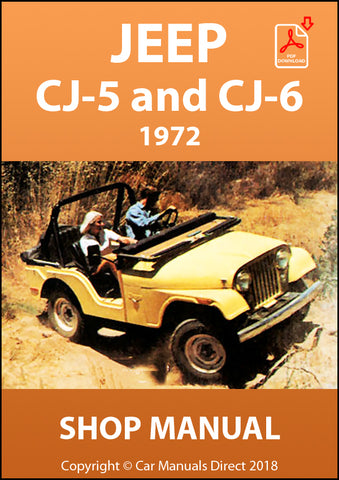 JEEP CJ-5 and CJ-6 1972 Shop Manual | carmanualsdirect