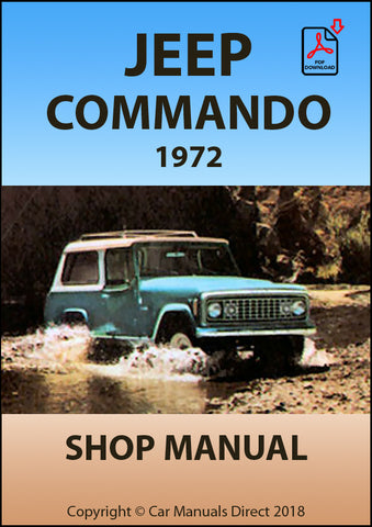 JEEP Commando 1972 Shop Manual | carmanualsdirect